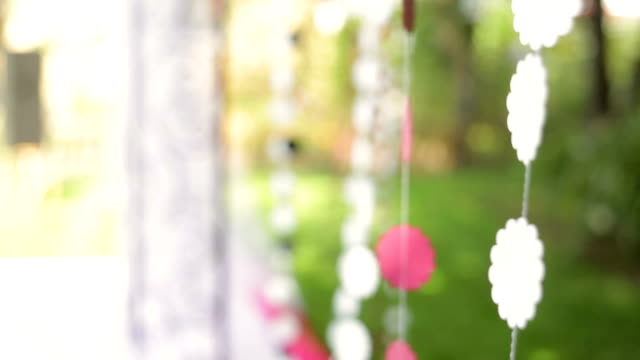 beautiful decoration for the wedding ceremony video