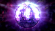 Beautiful Disco Ball Spinning seamless with flares. HD 1080. video