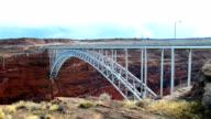 Beautiful elegant pedestrian bridge next to the Glen Canyon Dam video