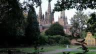 Beautiful Evening Sunset Light on Lichfield Cathedral Tilt video