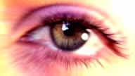 Beautiful Eye with flare. HD video