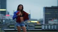 Beautiful fashion model posing video