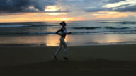 Beautiful Female Is Exercising In Nature video