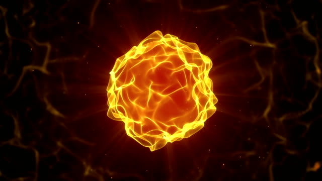 beautiful fire ball seamless loop animation video