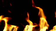 Beautiful Fire in Slow Motion, Looped. Close-up. HD 1080. video