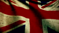 Beautiful flag of the United Kingdom waving in the wind video