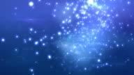 Beautiful Flight through the stars. Looped animation. video