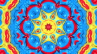 Beautiful floral kaleidoscope video