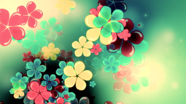 Beautiful flowers motion loop video