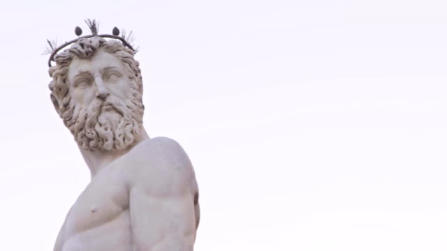 Beautiful fountain of Neptune in Florence video