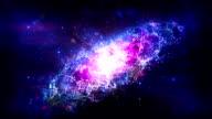Beautiful galaxy animation video