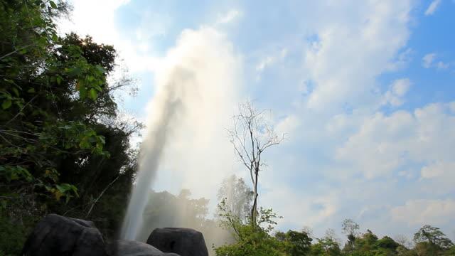 Beautiful geyser erupting video