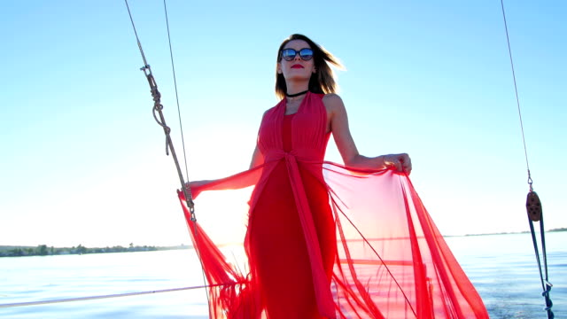 beautiful girl dancing on a yacht - party and bachelorette party video