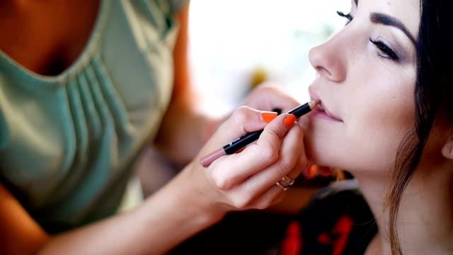 beautiful girl lipstick - wedding day video
