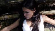 Beautiful Girl Lying On A Wood video