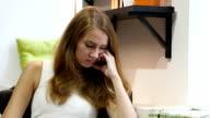 Beautiful Girl Sleeping at Work, Sitting tired video