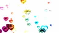 Beautiful glossy Hearts video