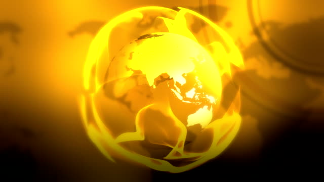 Beautiful gold globe loopable footage video