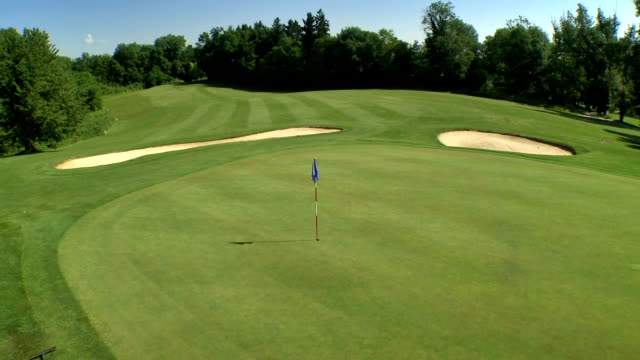 AERIAL Beautiful Golf Course video