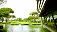 Beautiful golf course video