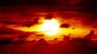 Beautiful HD sunrise with big bouncing sun video