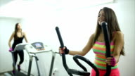 Beautiful healthy woman at the gym video