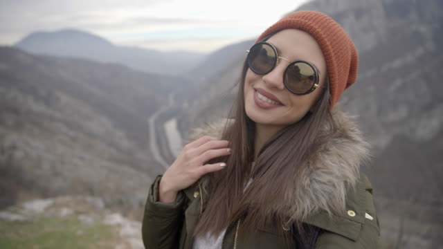 Beautiful hiker girl video