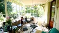 Beautiful home family balcony video