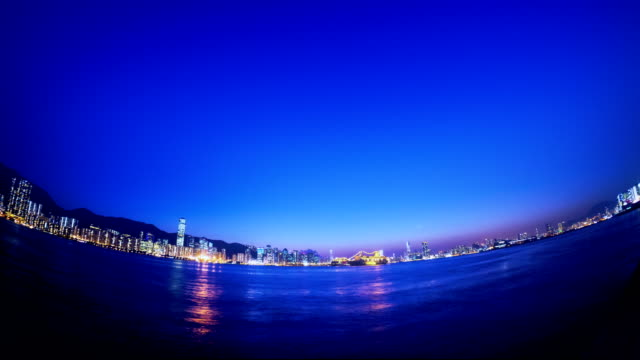 Beautiful Hong Kong Sunset City View. video