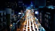 Beautiful Illuminated Road Through City At Night video