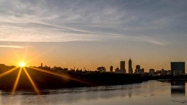Beautiful Indianapolis Sunrise Time Lapse 4K 1080p video