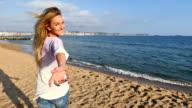 Beautiful invitation at beach video
