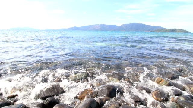 Beautiful Island of Black Rock Stones island Ko Hin Ngam, Koh Lipe,Thailand video