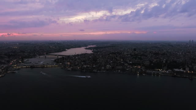 Beautiful Istanbul Aerial View at Night video