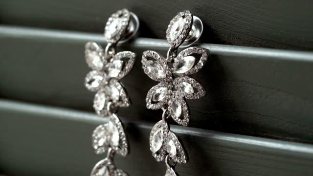 Beautiful jewelry earrings video