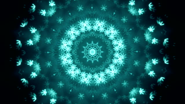 Beautiful kaleidoscopic Christmas background. video