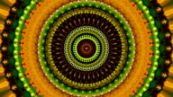 Beautiful kaleidoscopic circle pattern in bright colors. video
