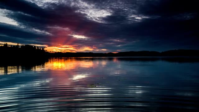 Beautiful Lake at Sunset video