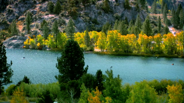Beautiful lake in the Sierra Nevada mountains video