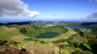 Beautiful lake of Sete Cidades, Azores, Portugal Europe video