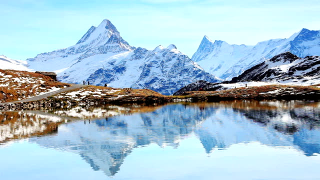 Beautiful lake under Alps, Bachalpsee video