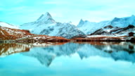 Beautiful lake under Alps, Bachalpsee video