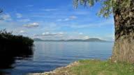 Beautiful landscape over the lake Balaton of Hungary video