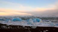 Beautiful landscape view of North Atlantic Ocean. Full HD Video video