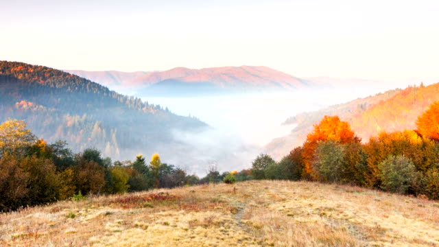 Beautiful landscape with hills and mountais video