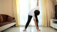 Beautiful large woman exercising video