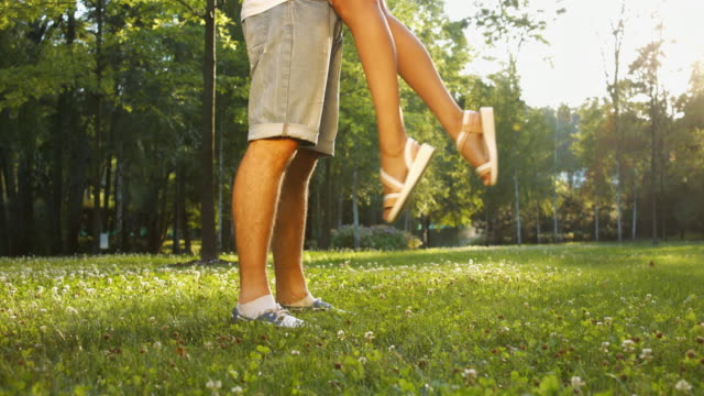 Beautiful legs of boy and girl. video