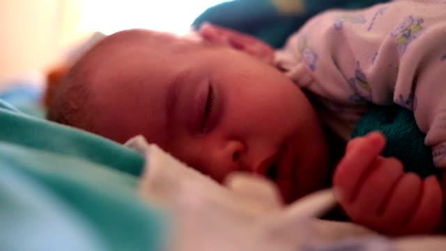 beautiful little baby sleeping video