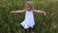 Beautiful little girl displays joy video
