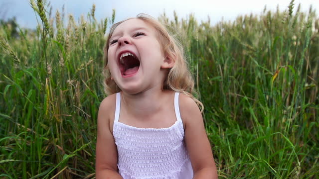 Beautiful little girl laughs video
